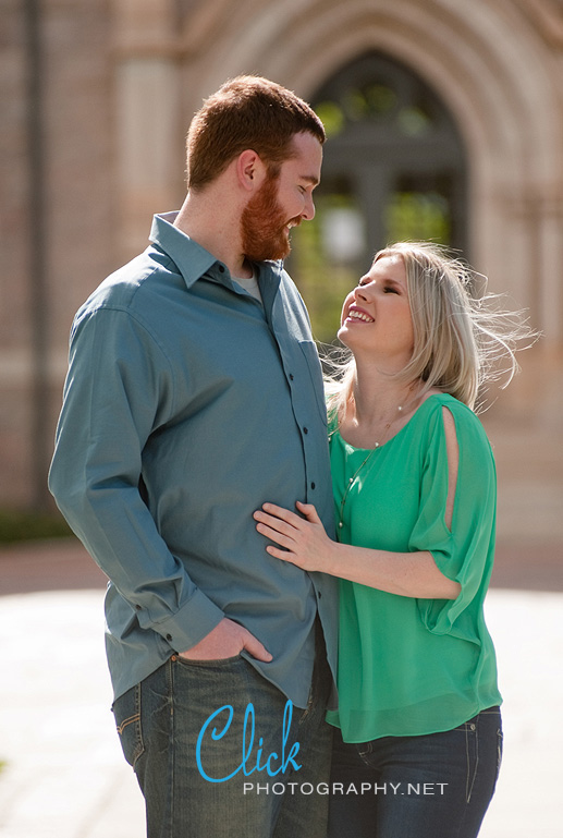 engagement portraits at Colorado College