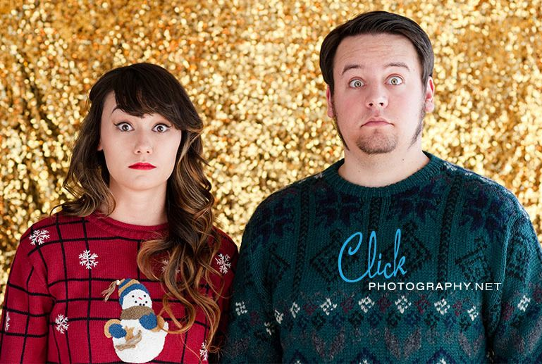 Ugly Christmas sweater portraits