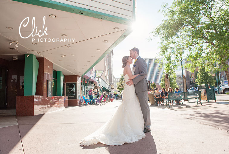 downtown Colorado Springs wedding