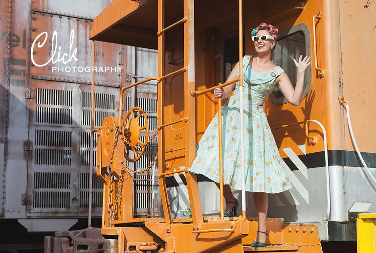 retro photo shoot, Colorado Springs pinups