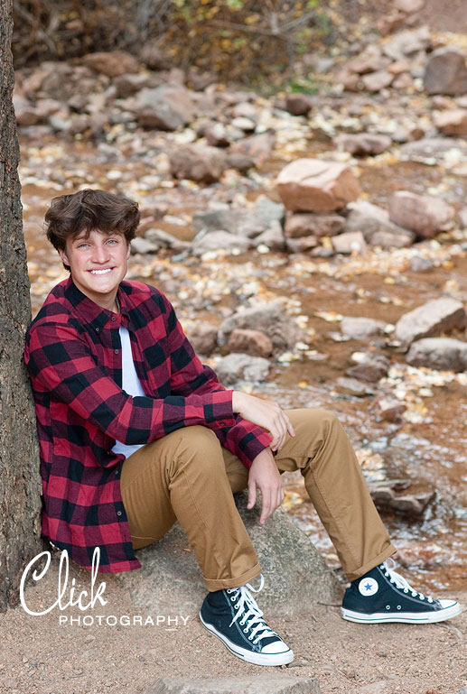 senior pics in Cheyenne Canon Colorado Springs