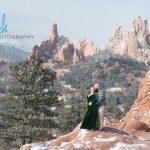 snowy engagement portraits